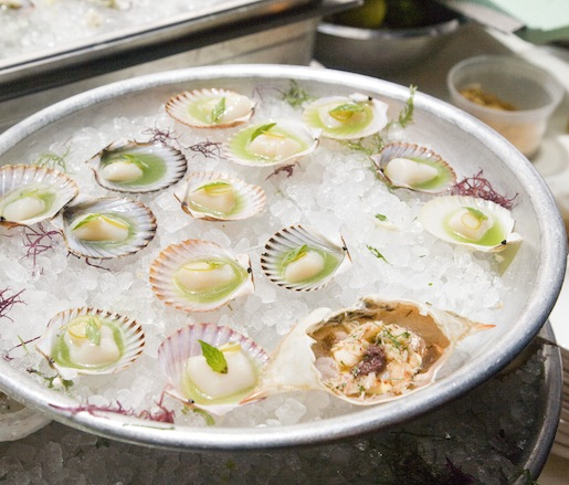 Massachusetts Bay Scallops with Lemongrass and Thai Basil for the Maison Premiere Seafood Tower